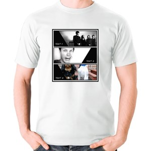 Customized Photo T-Shirt - Comic Style Collage